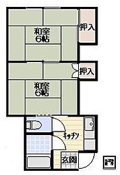 コーポ浅田[203号室]の間取り
