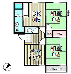フレグランス飯島B棟[201号室]の間取り