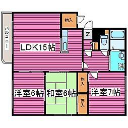 北海道札幌市東区東苗穂六条1丁目の賃貸マンションの間取り