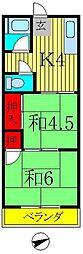 伸栄コーポ[2階]の間取り