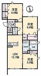 広島県広島市南区翠4丁目の賃貸マンションの間取り