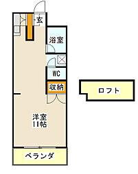 メゾン新栄III[205号室]の間取り
