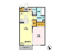 仮)D-room平須町[2階]の間取り