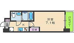 セレニテ福島カルム 8階1Kの間取り