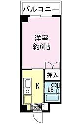 ヤマユ森マンション[2階]の間取り