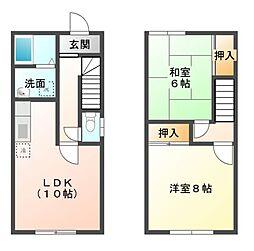 [タウンハウス] 千葉県市原市五井西2丁目 の賃貸【/】の間取り