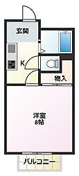 シャトレ壱番館[1階]の間取り