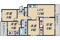 ロイヤルハイツ上野西[207号室]の間取り