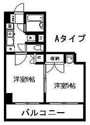 新潟県新潟市中央区花園2丁目の賃貸マンションの間取り