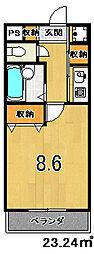 元土御門[406号室]の間取り