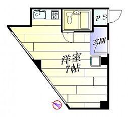 ナンノ第15号館[4階]の間取り