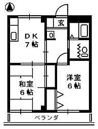 メイプルタウン高田[3階]の間取り