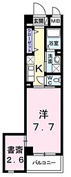 東京都昭島市昭和町4丁目の賃貸マンションの間取り