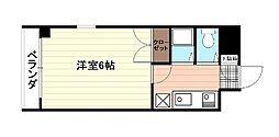 広島県広島市中区大手町5丁目の賃貸マンションの間取り