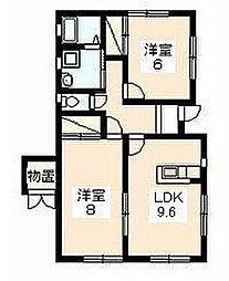 [テラスハウス] 静岡県浜松市西区大平台1丁目 の賃貸【静岡県 / 浜松市西区】の間取り