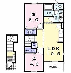フィ−ル[2階]の間取り