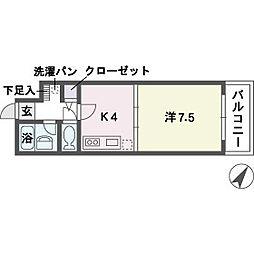 ル・アディッソ福岡[5階]の間取り