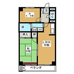 サンパルK・K[3階]の間取り