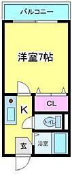 スカイハイツ苅田[5階]の間取り