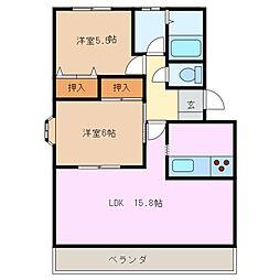 Twinkle B[2階]の間取り