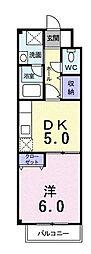 エテルネル21[201号室]の間取り