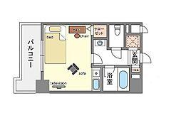 家具・家電付きフォーラム美野島[7階]の間取り