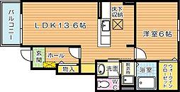 ブルックサイドレジデンス C棟[1階]の間取り