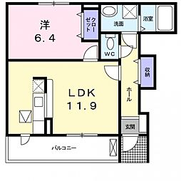 カーサスカイ2[106号室号室]の間取り