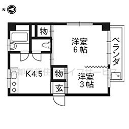 小堀マンション新館[B-3号室]の間取り