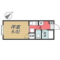 千葉県千葉市中央区弁天1丁目の賃貸アパートの間取り