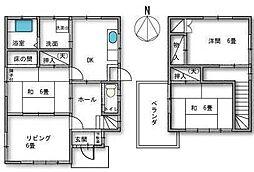 [一戸建] 埼玉県さいたま市中央区本町東4丁目 の賃貸【/】の間取り
