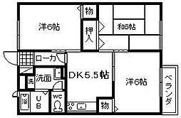 サーマイム脇浜[202号室]の間取り
