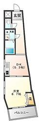 イケガミマンションパート6[5階]の間取り
