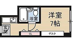 ステュディオ新大阪[6階]の間取り