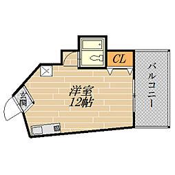 パールハイム高殿[3階]の間取り
