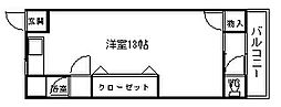 西川ハイツ[N002号室]の間取り