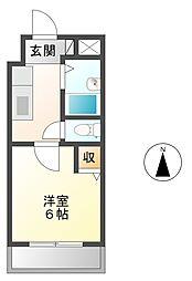 ローズコーポ阪神尼崎[2階]の間取り