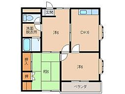 ロイヤルムソタ[2階]の間取り