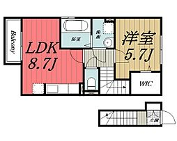 京成本線 京成佐倉駅 徒歩19分の賃貸アパート 2階1LDKの間取り