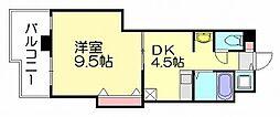 サンプラスパ[3階]の間取り