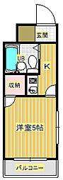 武藤マンション[2階]の間取り