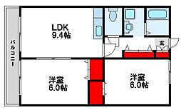 スクールビュー赤間[1階]の間取り