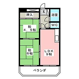 高宮第一マンション[1階]の間取り