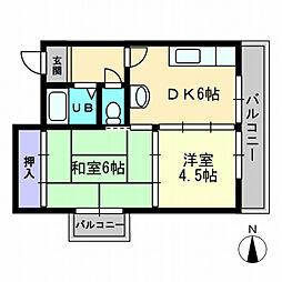 アステール・K[6階]の間取り