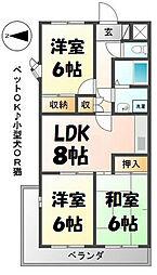 グランディールYOKOYAMA II[306号室]の間取り
