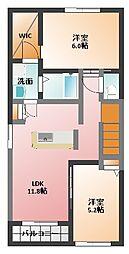 コンフォート富田1[2階]の間取り