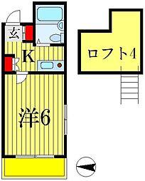 ジュネパレス松戸第4[102号室]の間取り