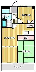 愛知県名古屋市緑区倉坂の賃貸マンションの間取り