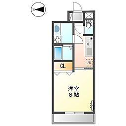 (仮称)大阪狭山市半田5丁目新築マンション 1階1Kの間取り