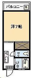 山口コーポ[A2-6号室]の間取り